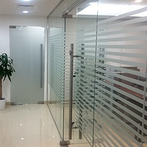 office glass door design. Glass Partition Dubai With Decorative Film And Frame Less Doors Office Door Design O