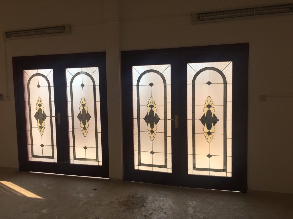 villa maintenance and view from inside for entrance door in Jumeirah