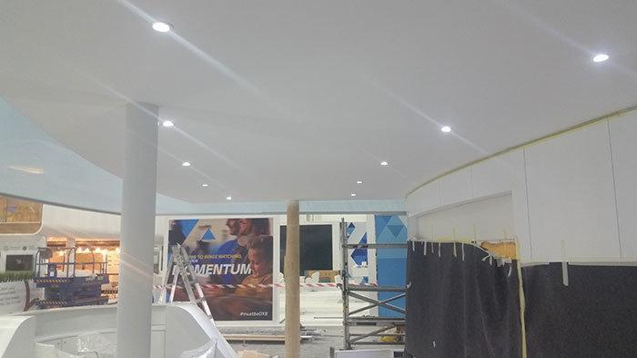 Exhibition Stand Ceiling : Best gypsum partition contractor work in