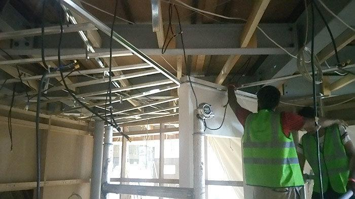Site For Fixing Gypsum Ceiling In Trade Center Dubai Measuring The Furring Channel To Fix