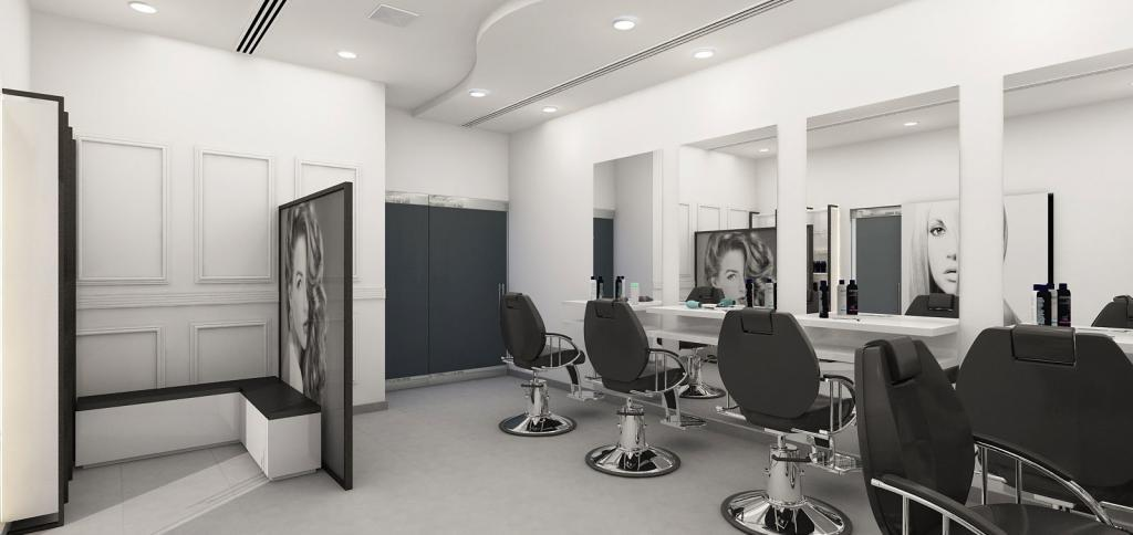 3d designing for a saloon by the best interior designing company in Dubai